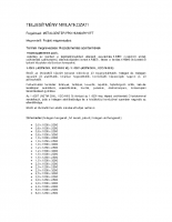 Inox teljesítmény nyilatkozat