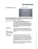 RHEINZINK ereszcsatorna teljesítmény nyilatkozat 2014