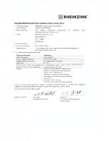 Rheinzink teljesítmény nyilatkozat